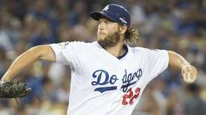 Los Angeles Dodger pitcher Clayton Kershaw in the