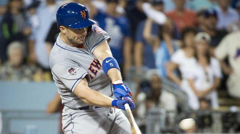 NY Mets' David Wright hitting a two run