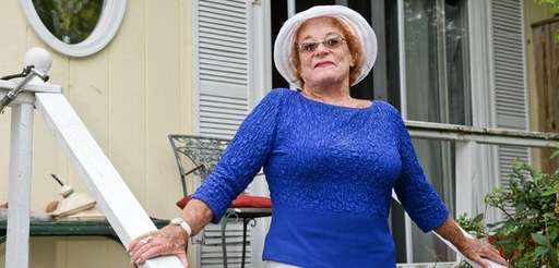 Jeanne Lieberman stands in front of her Kismet