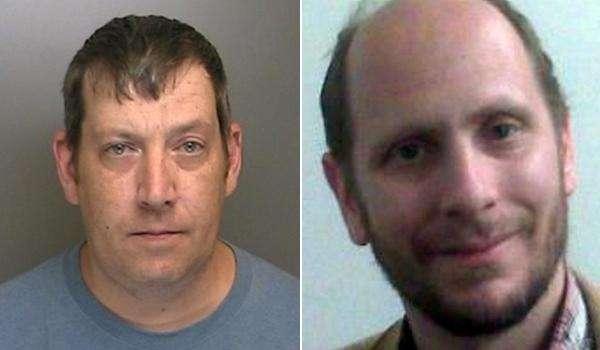 Timothy Burke, 43, of St. James, left, pleaded