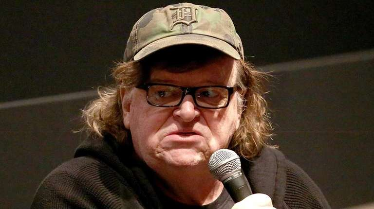 Director Michael Moore speaks at the 53rd New