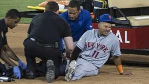 New York Mets Ruben Tejada is injured after