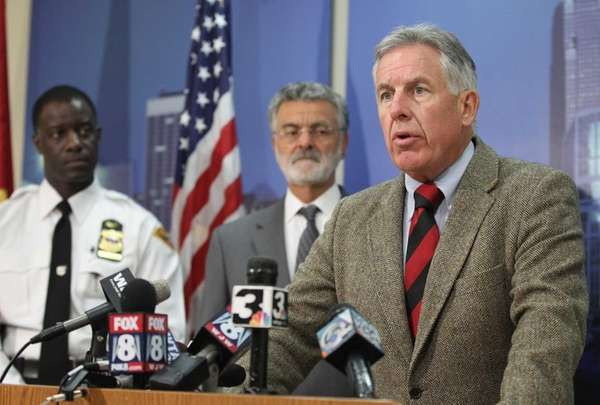 Cuyahoga County Prosecutor Timothy McGinty speaks during a