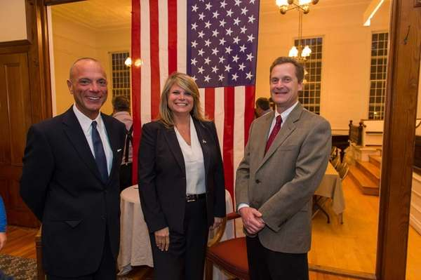 At the Jamesport Meeting House, candidates for Riverhead