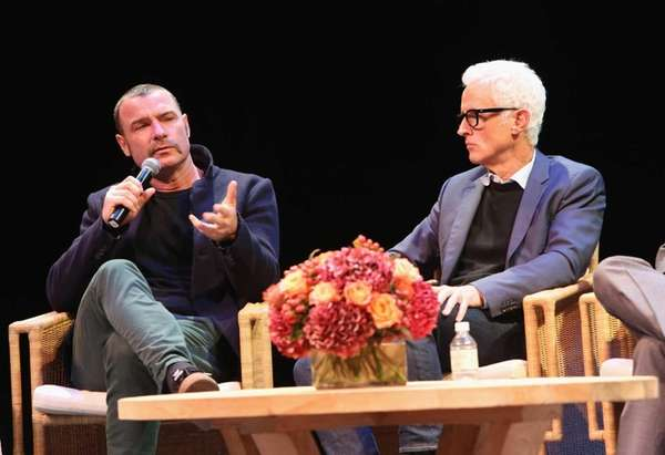 Actors Liev Schreiber and John Slattery attend a
