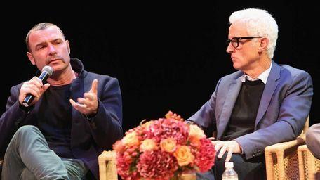 Actors Liev Schreiber and John Slattery attend a