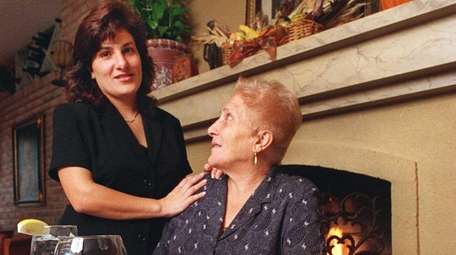 Patricia Cosentino-Schutz with her mother, Gelsomina Cosentino,