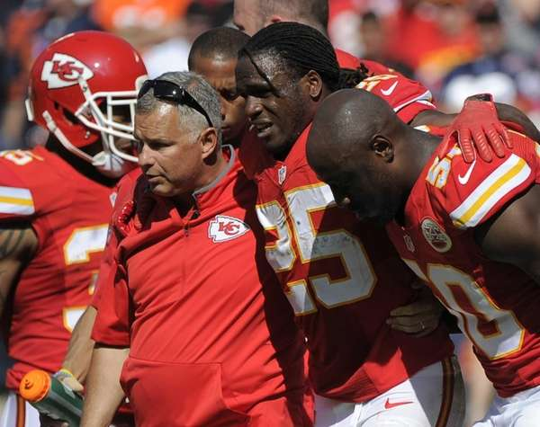 Kansas City Chiefs running back Jamaal Charles (25)