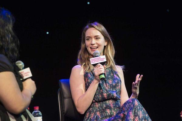 Actress Emily Blunt speaks with Jenelle Riley, deputy