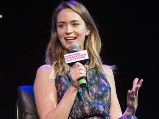Actress Emily Blunt speaks with Jenelle Riley, deputy