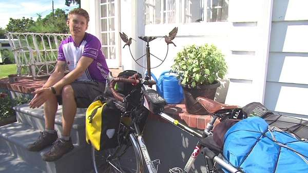AJ Borowski, 26, began his 5,000-mile trip on