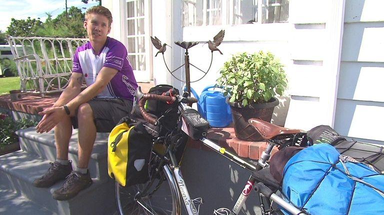 AJ Borowski, 26, began his 5,000-mile trip on