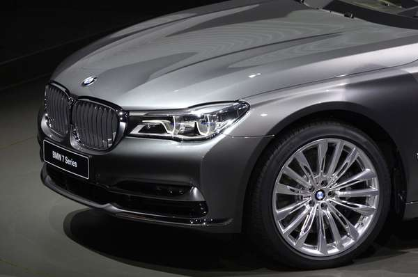 The new BMW 7 limousine is presented at