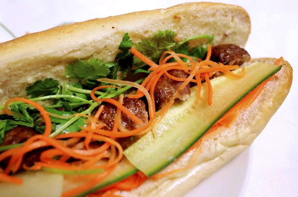 Banh Mi with Grilled Hash Pork at Pho