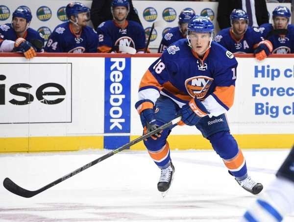 New York Islanders center Ryan Strome skates against