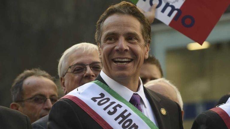 New York State Gov. Andrew Cuomo marches in