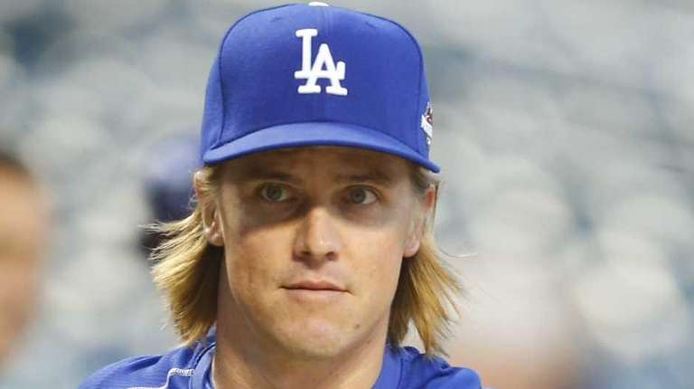 Los Angeles Dodgers starting pitcher Zack Greinke during