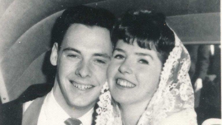 Bill and Patricia McKenna on their wedding day,