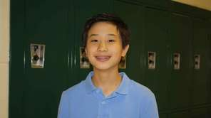 Bryant Liu, 13, a freshman at Rocky Point