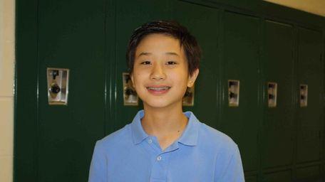 Bryant Liu, 13, a freshman at Rocky Point