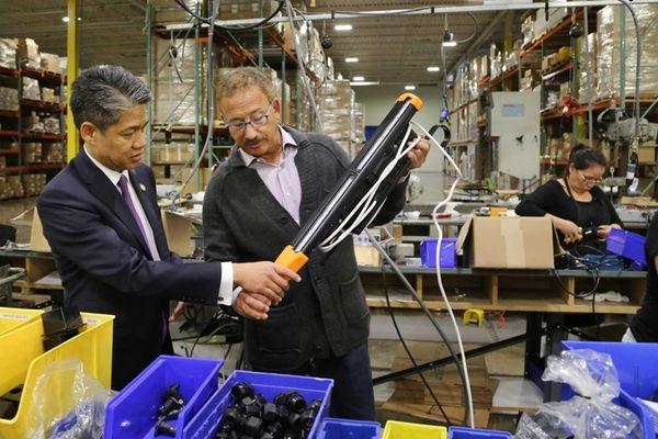 During a tour of Autronic Plastics Inc.'s facility