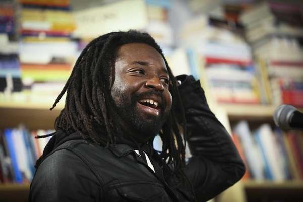 Author Marlon James at a reading in St.
