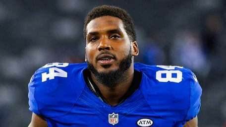 Larry Donnell of the New York Giants exits