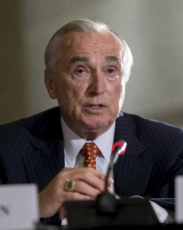 NYPD Commissioner Bill Bratton testifies at a hearing