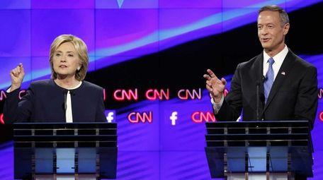 Hillary Rodham Clinton and former Maryland Gov. Martin