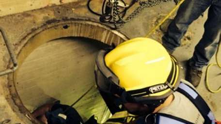 Firefighters from Port Washington and other departments rescue