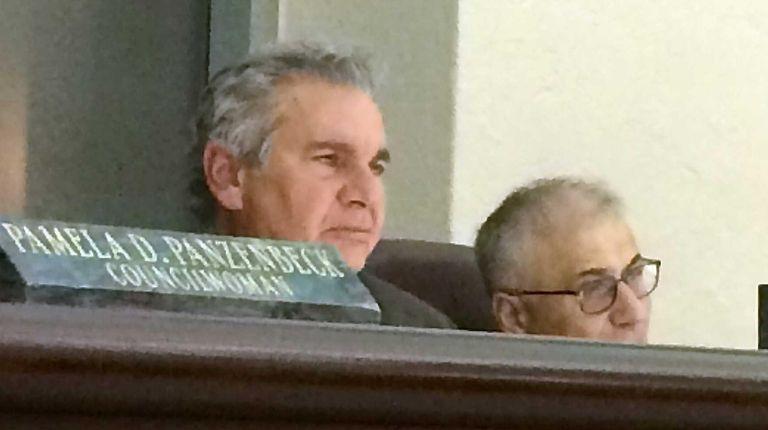 Glen Cove Mayor Reginald Spinello at the public