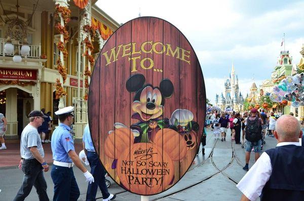 Disney's Magic Kingdom in Orlando, Fla., decorates for
