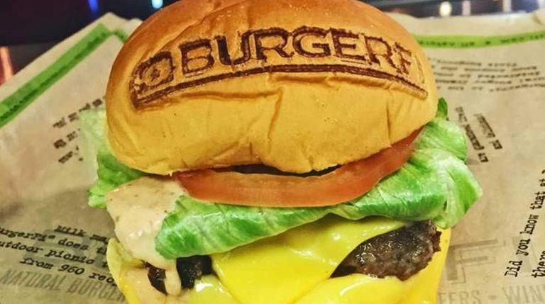 A free BurgerFi cheeseburger -- one per guest