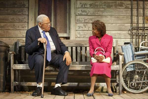 James Earl Jones and Cicely Tyson during a