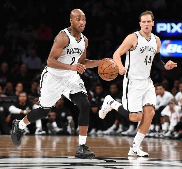 Brooklyn Nets guard Jarrett Jack brings the ball