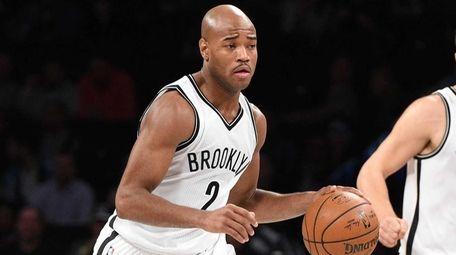 Brooklyn Nets guard Jarrett Jack brings the ball