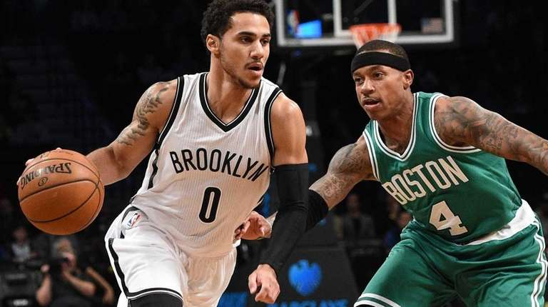 Brooklyn Nets guard Shane Larkin drives the ball