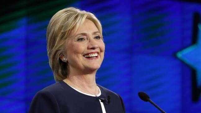Hillary Rodham Clinton is pictured during the CNN