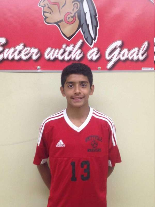 Amityville's Rolman Guardado scored his first varsity goal