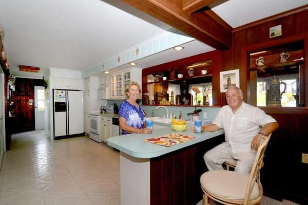 George and Anna Marie Giarratano in the kitchen
