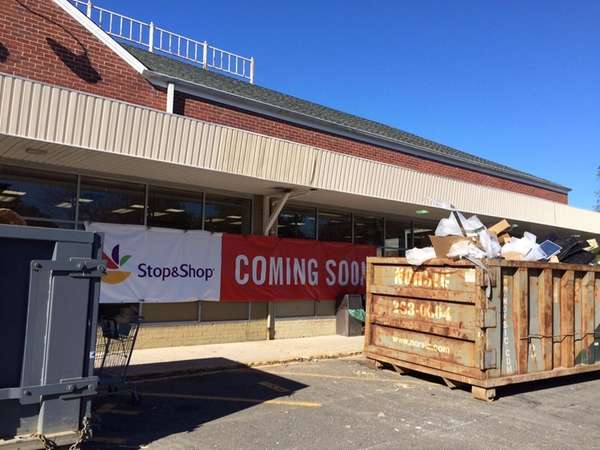 Construction continues at a Stop & Shop in