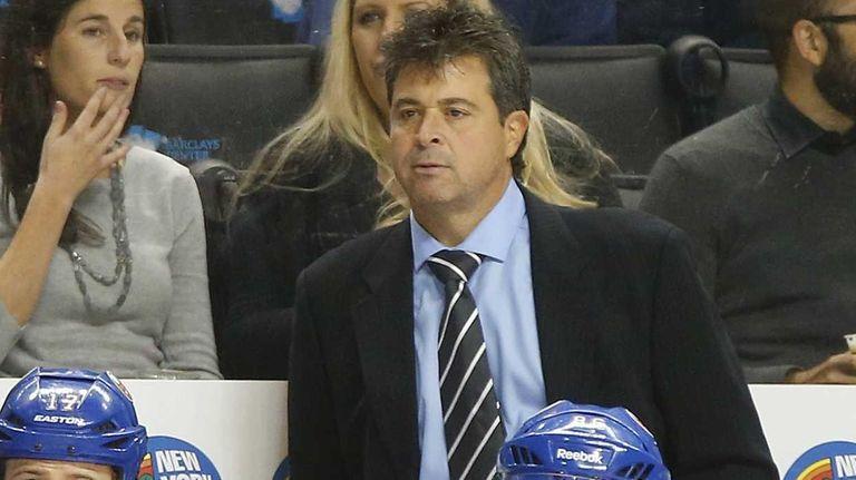 Head coach Jack Capuano of the New York