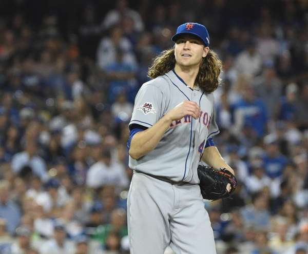 New York Mets pitcher Jacob deGrom on the
