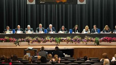 The Sachem Central School District board held a