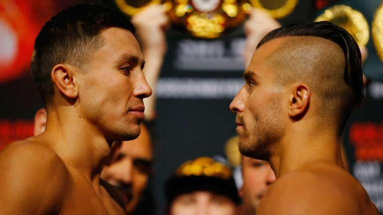 Gennady Golovkin squares off against David Lemieux at