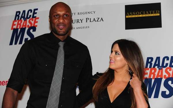 Lamar Odom and Khloe Kardashian arrive for the