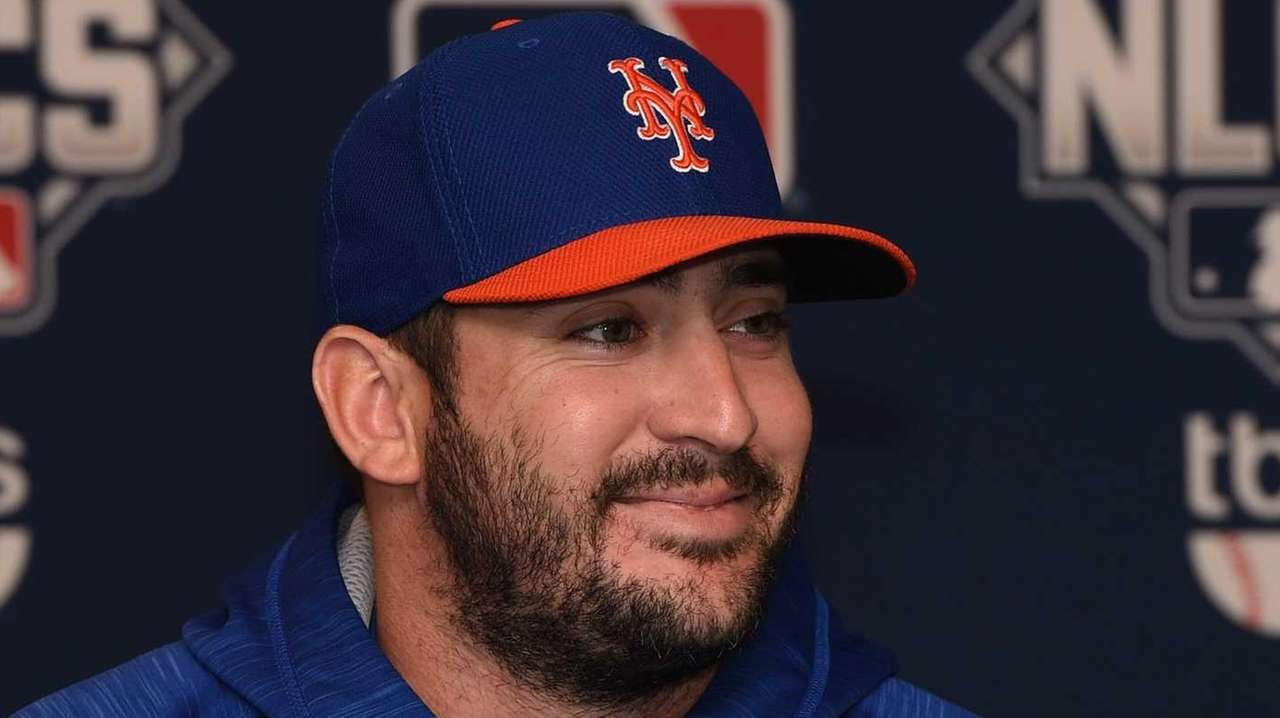 New York Mets starting pitcher Matt Harvey answers