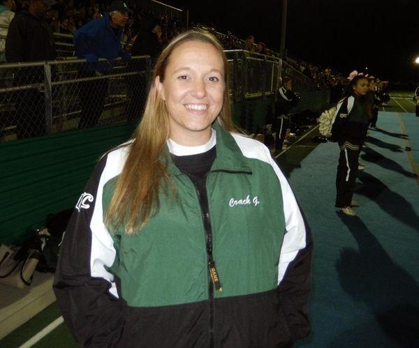 Maureen Grosskreuz, the new cheerleading coach at Longwood