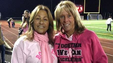 Former assistant cheerleading coach Stacy Brennan, left, who