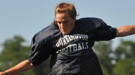 Taylor Moreno, a multi-sport female athlete and kicker